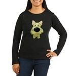 Big Nose Cairn Women's Long Sleeve Dark T-Shirt