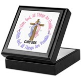 With God Cross SIDS Keepsake Box