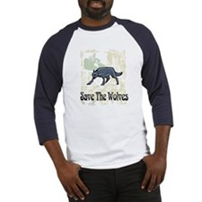 Save The Wolves Baseball Jersey