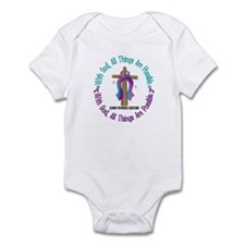 With God THYROID CANCER Infant Bodysuit