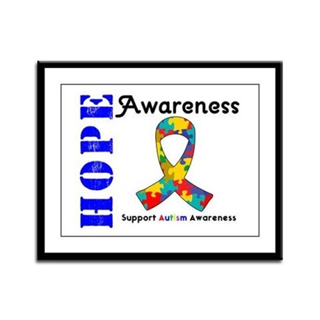 AutismHope Awareness Framed Panel Print