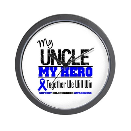 ColonCancerHero Uncle Wall Clock