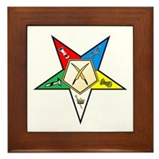 OES Secretary Framed Tile