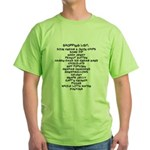Shopping List Green T-Shirt