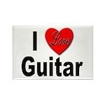 I Love Guitar Rectangle Magnet (10 pack)