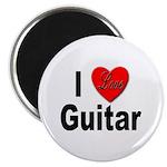 I Love Guitar Magnet