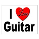 I Love Guitar Small Poster