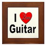 I Love Guitar Framed Tile