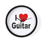 I Love Guitar Wall Clock