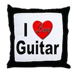 I Love Guitar Throw Pillow