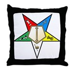 OES Associate Conductress Throw Pillow
