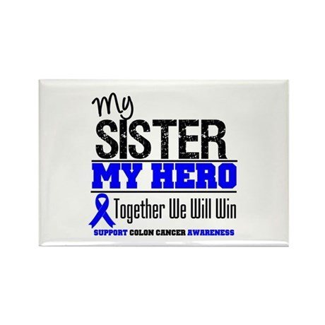 ColonCancerHero Sister Rectangle Magnet