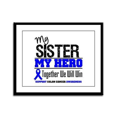ColonCancerHero Sister Framed Panel Print