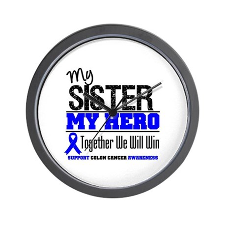 ColonCancerHero Sister Wall Clock