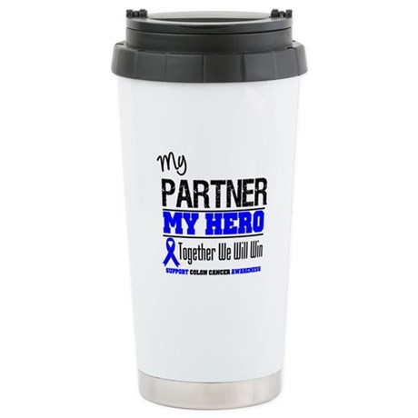 ColonCancerHero Partner Ceramic Travel Mug