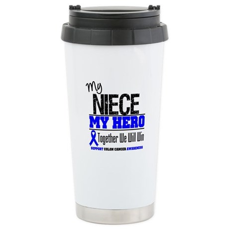 ColonCancerHero Niece Ceramic Travel Mug