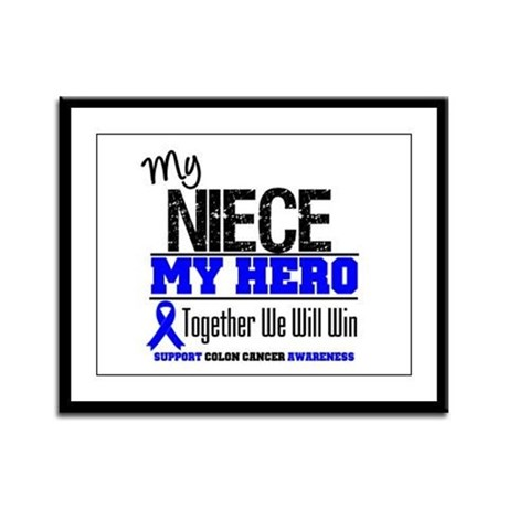 ColonCancerHero Niece Framed Panel Print
