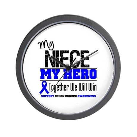 ColonCancerHero Niece Wall Clock