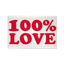 100% LOVE Rectangle Magnet