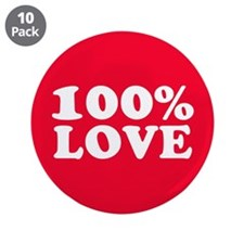 "100% LOVE 3.5"" Button (10 pack)"