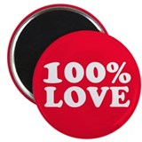 "100% LOVE 2.25"" Magnet (100 pack)"