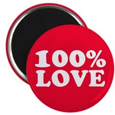 "100% LOVE 2.25"" Magnet (10 pack)"