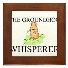 The Groundhog Whisperer Framed Tile