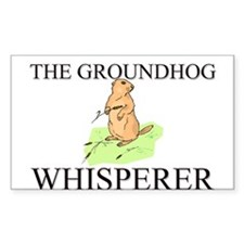 The Groundhog Whisperer Rectangle Decal