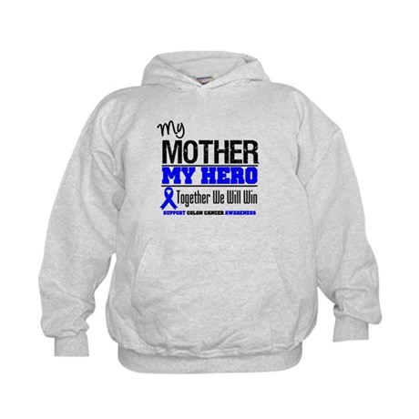 ColonCancerHero Mother Kids Hoodie