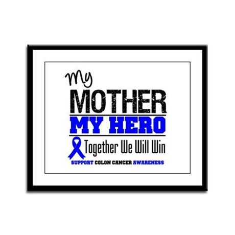 ColonCancerHero Mother Framed Panel Print