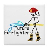 Future Firefighter Tile Coaster