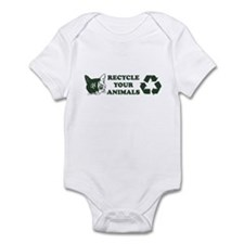 Recycle your animals Infant Bodysuit