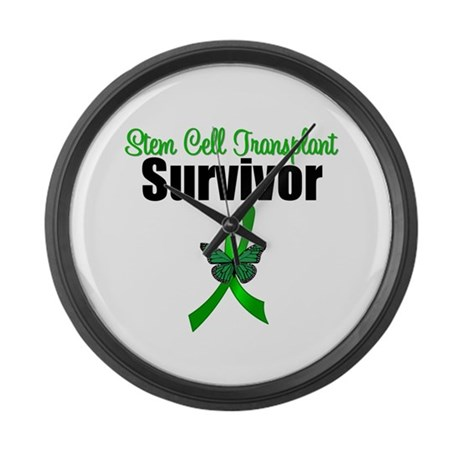 SCT Survivor Ribbon Large Wall Clock