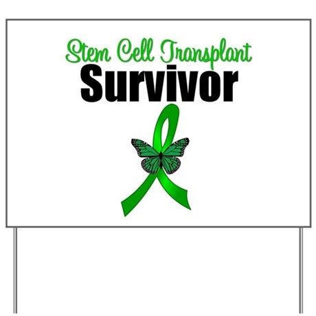 SCT Survivor Ribbon Yard Sign
