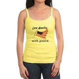 with peace. (spag tank)