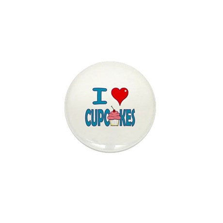 I love Cupcakes! Mini Button