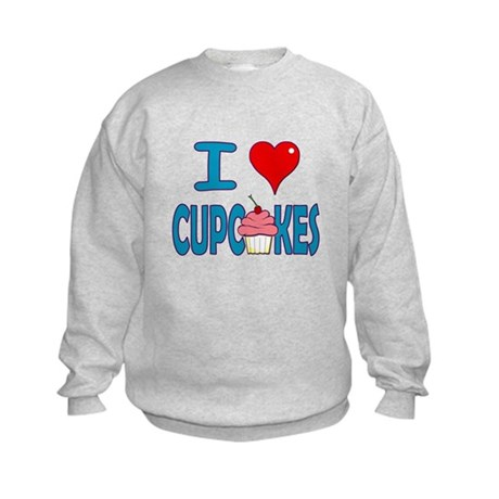 I love Cupcakes! Kids Sweatshirt
