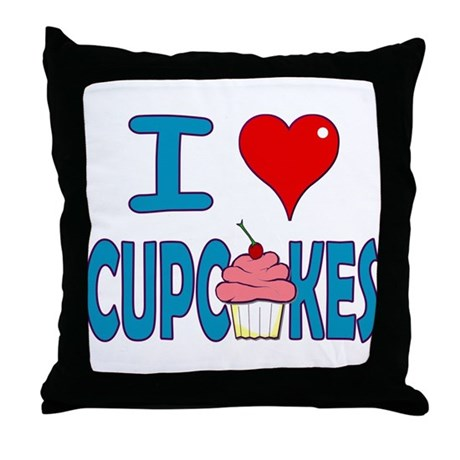 I love Cupcakes! Throw Pillow