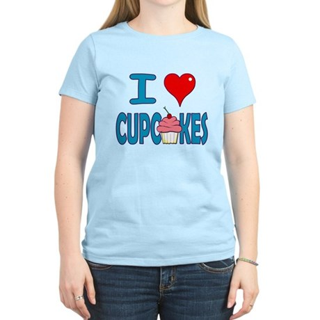I love Cupcakes! Women's Pink T-Shirt