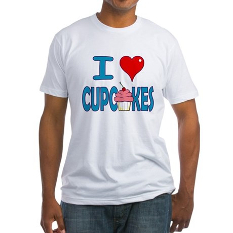 I love Cupcakes! Fitted T-Shirt