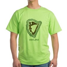 Irish Harp and Shamrock T-Shirt