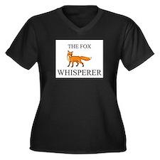 The Fox Whisperer Women's Plus Size V-Neck Dark T-