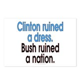 Clinton ruined a dress... (8 postcards)