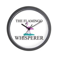 The Flamingo Whisperer Wall Clock