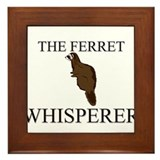 The Ferret Whisperer Framed Tile
