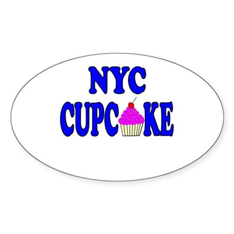 NYC Cupcake! Oval Sticker