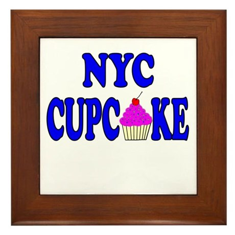 NYC Cupcake! Framed Tile