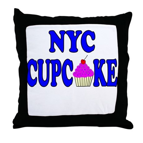 NYC Cupcake! Throw Pillow