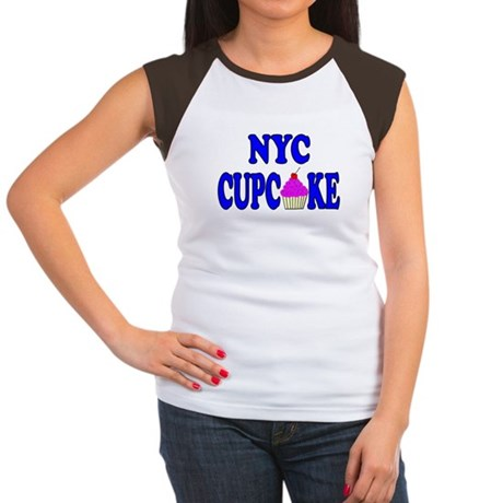 NYC Cupcake! Women's Cap Sleeve T-Shirt