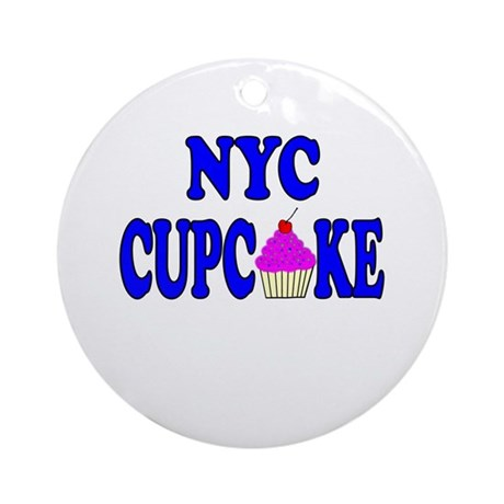 NYC Cupcake! Ornament (Round)